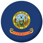 Idaho State Flag 25mm Pin Button Badge